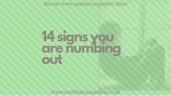 14 signs you are numbing out - matt fox counselling